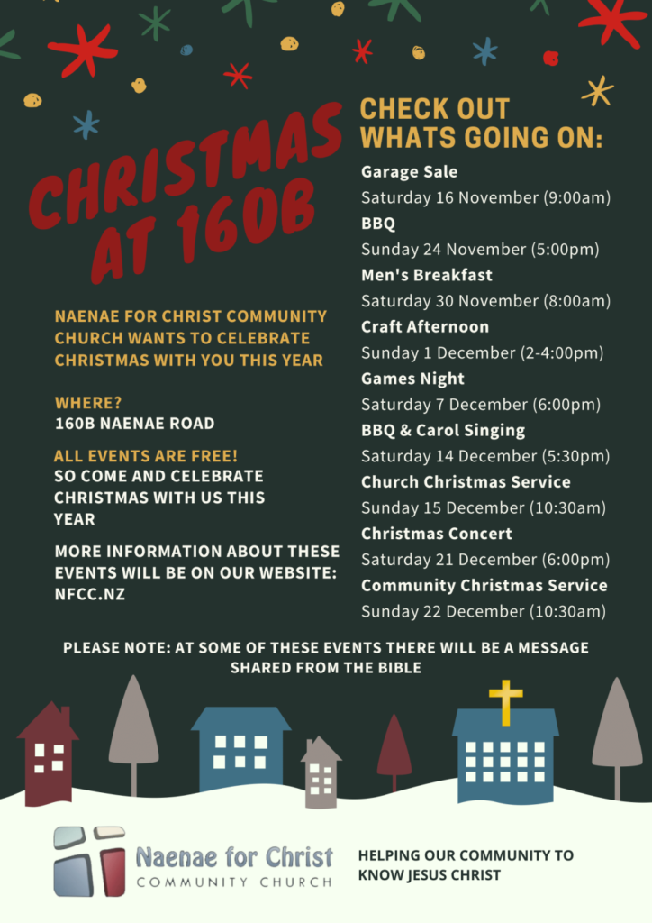 Details of NFCCC Christmas events